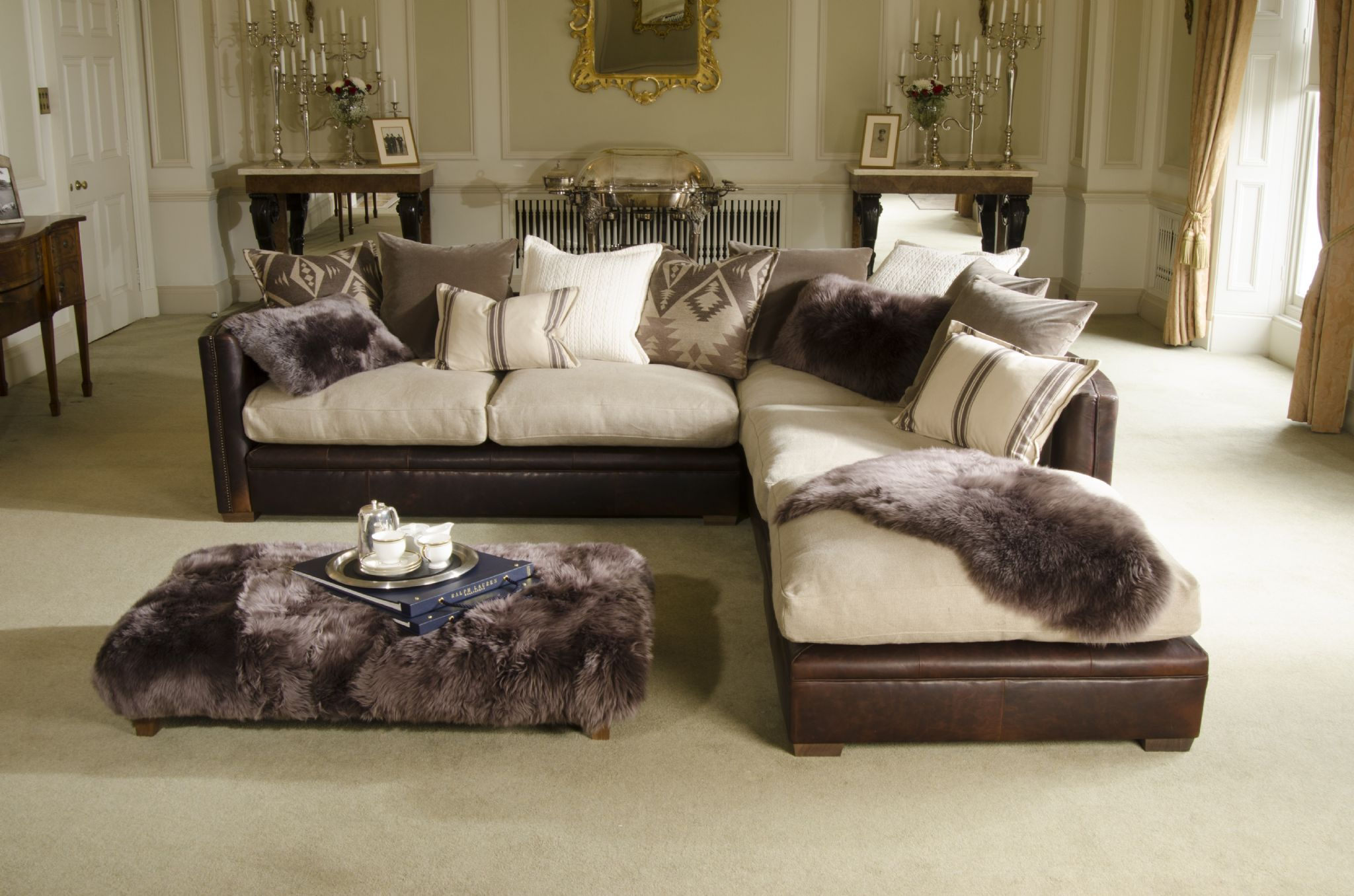 One Arm Sofa With Chaise